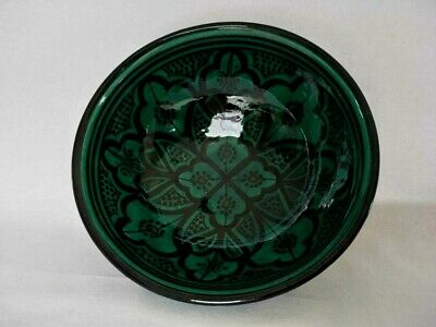 Moroccan Handmade and Painted Green  Bowl
