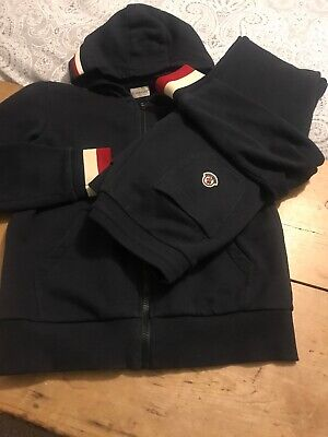 Genuine Moncler Track Suit Boys Age 14.. Dark Blue