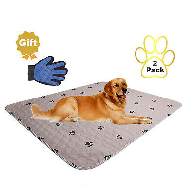 2 Pack - Pet Puppy Pads Washable Reusable Dog Training Pee Pads  Indoor Potty