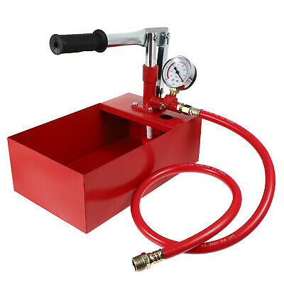 Water Pipe Line Leakage Tester Copper Pressure Test Pump Heating System 5 L UK