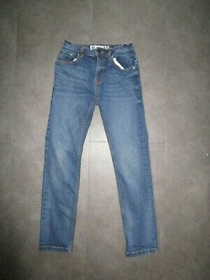 boys boy jeans straight fit blue denim age 10 years adjustable waist excellent