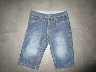 boys boy shorts age 11-12 years blue denim shorts slim fit worn once
