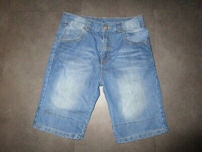 boys boy shorts age 10-11 years light blue denim shorts worn adjustable  waist