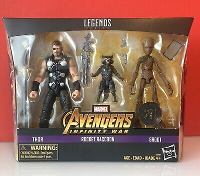 Hasbro Marvel Legends MCU Avengers Thor / Rocket / Groot 3 pack - Sealed