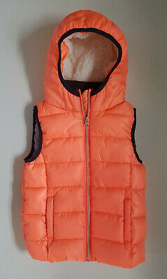 Next Puffa Quilted Bodywarmer Hooded Gilet Girl Age 7 YEARS 122CM
