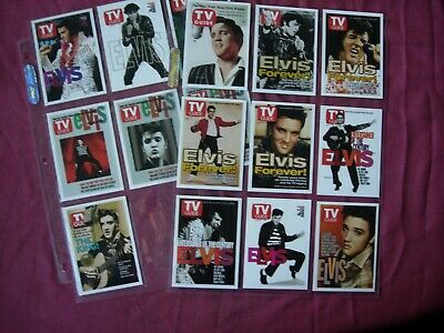 Elvis Presley: TV Guide Covers X16 complete set Rittenhouse Archives 2005 VFN