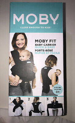 Moby Fit Baby Carrier Wrap (Black) Opened box Never Used - New