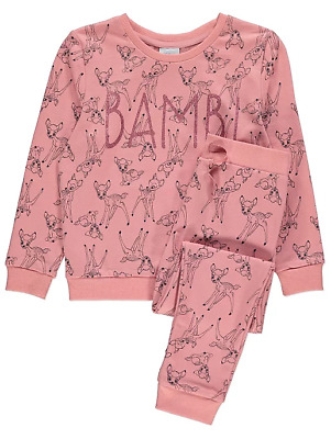 Disney Girls Bambi Pink Top and Joggers Outfit 3-4 Years BNWT