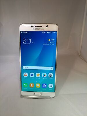 Samsung Galaxy Note 5 32GB White Pearl Sprint Unlocked Very Good Condition