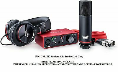 FOCUSRITE Scarlett Solo Studio 3rd Gen INTERFACCIA AUDIO USB MICROFONO + CUFFIA