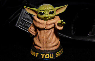 Baby Yoda 3D Printed Toy from Mandalorian (Star Wars universe)
