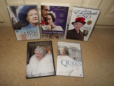 Collection of DVDs about the Queen and Queen Mother (used)