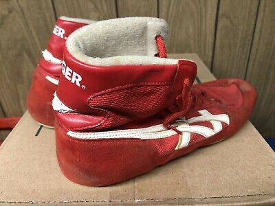 Asics Tiger wrestling shoes Red Split Sole Vintage Size 11.5 11 1/2