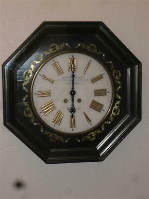 Antique Octagonal French 8-Day Chiming Wall Clock