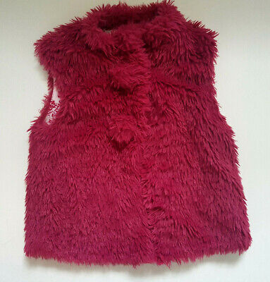 M&Co Spring Fluffy Girl Vest Jacket Age 7-8 years 128cm