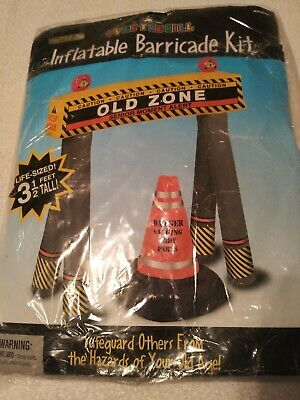~ Birthday Party Supplies OVER THE HILL Old Zone INFLATABLE BARRICADE KIT 2pc