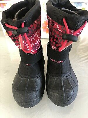 Columbia Kids Powderbug Plus II Big Kid Girls Pull On Snow Rain Boot Pink Size 9