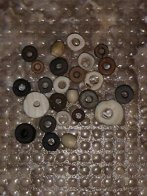 25 Pre-Columbian Tairona Disc Beads - Tribal Artifact - Native South American
