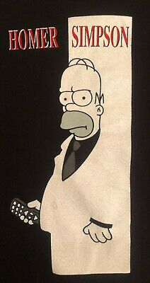 Vintage Homer Simpson  Scarface Logo Parody T Shirt Size Large The Simpsons