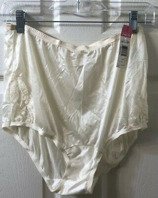 Vintage Vanity Fair Sheer High Waisted Lace Nylon Gusset Panties Size 7 Tags