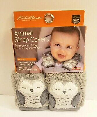 Eddie Bauer Animal Strap Covers Owl Baby Child Safety Seat and Stroller Attach