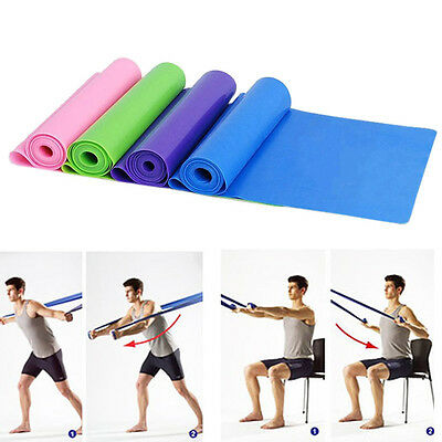 1.5m Elastic Yoga Pilates Rubber Stretch Resist Exercise Fitness Band Strap SA