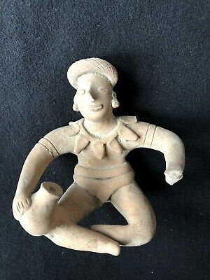 Pre-Columbian Colima Seated Figure 100 BC - 250 AD,  NICE!  FREE SHIPPING