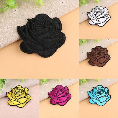 Embroidery Rose Sew Iron On Patch Embroidered Fabric Applique Decor Intriguing