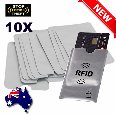 RFID Blocking Sleeve Safety Anti Scan Secure Credit Debit Card ID Protector SALE