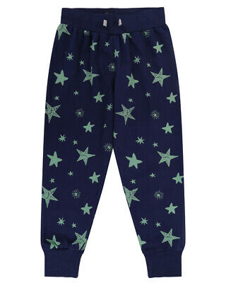 Lilly and Sid Boys Navy Star Print Joggers - 3-4 Years