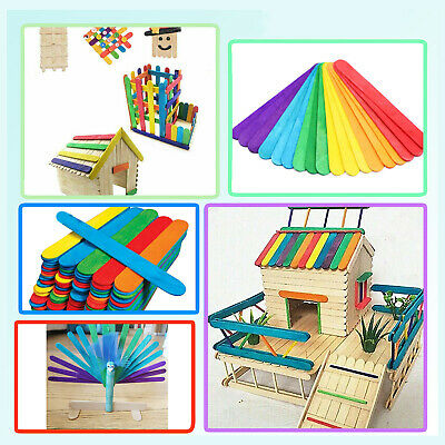 Lolly Sticks Jumbo 6 Colored for Arts & Crafts Models Making Labels Wall Frames