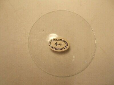 "Vintage 4 1/2"" Round Convex Clock Glass Crown New Old Stock HRC tag"
