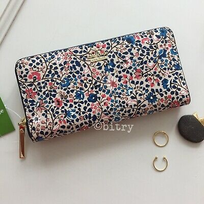 BNWT Kate Spade Cameron Street Vine Lacey Zip Around Wallet Clutch Ditsy Floral