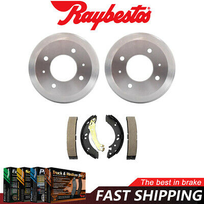 2 Rear Brake Drums 4-Lug Left /& Right For Hyundai Accent 2013-18 Set Pair