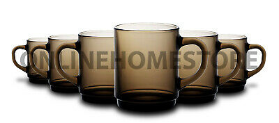 Smoke 26cl Traditional French Glass Drinkware Duralex Set of 6 Versailles Mugs