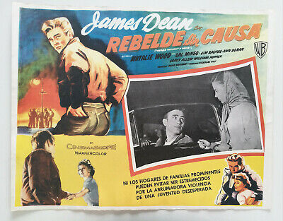 James Dean Rebel without a Cause Or. Mexico Lobby Card 50s Natalie Wood Movie
