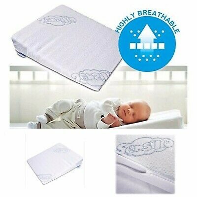 Newborn Anti Reflux Colic Wedge Pillow Cot Bed Crib Pram Cushion Baby Safety