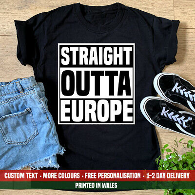 Compton Inspired Vote Leave Brexit Indendence STRAIGHT OUTTA EUROPE T-Shirt