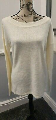 Ladies Ex Top Shop Cream Slouch Style Soft Woolly Jumper Size 10 New