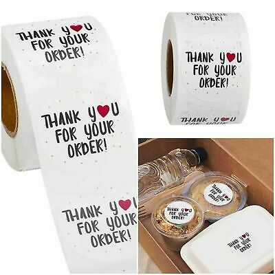 Round Thank You For Your Order Business Labels Stickers Gift Craft Box Love