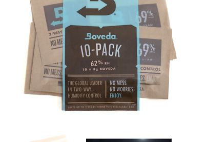 Boveda 8g 2-Way Humidity 62% (10/Pack) 62% Rh Level