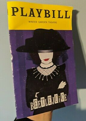 Beetlejuice Broadway Playbill Limited January 2020 Lydia Sophia Anne Caruso