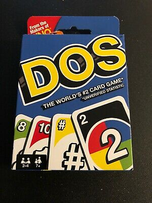 Uno DOS Card Game Colorful Classic Teams Version Mattel CHOP