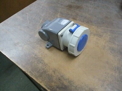 Russellstoll Receptacle w/ Base RS430R9W 30A 250V 3Ph Used