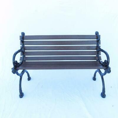 Antique Cast Aluminum and Wood Park Bench Ornate Design Iron Look
