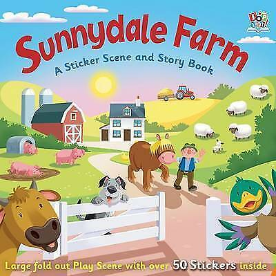 SUNNYDALE FARM A sticker Story Activity Book Playscene + 50 reusable stickers