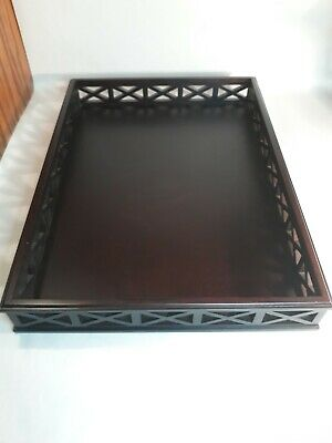 "White Barn Stained Wood Large Tray 13""×18"""