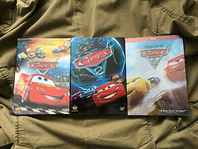 Cars 1-3 Trilogy Disney / Pixar Movie Bundle DVD Brand New Free Shipping