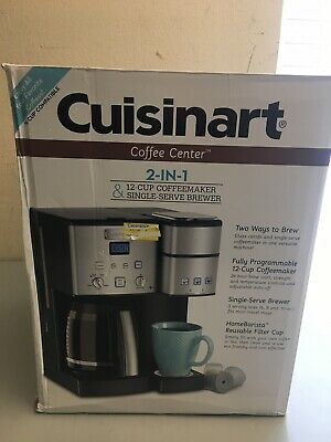 Cuisinart Coffee Center SS-15 12-Cup Coffeemaker and Single-Serve Brewer