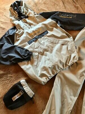 PICKWICK COLOUR GROUP ACTION APPAREL Completo Impermeabile Moto Beige Nero Tg. M